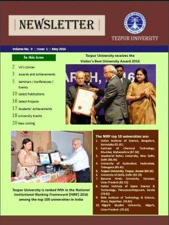 Newsletters,Tezpur University,INDIA
