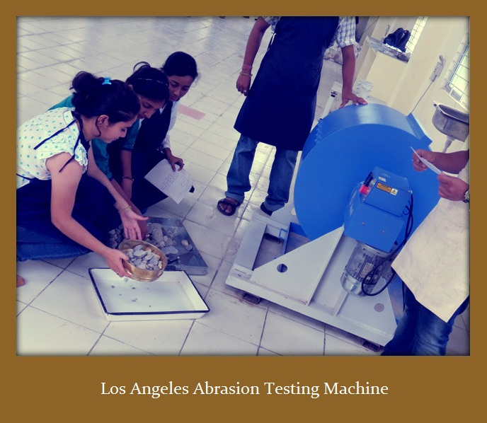 Los Angeles Abrasion Test on Aggregates -Values for Pavements and Roads