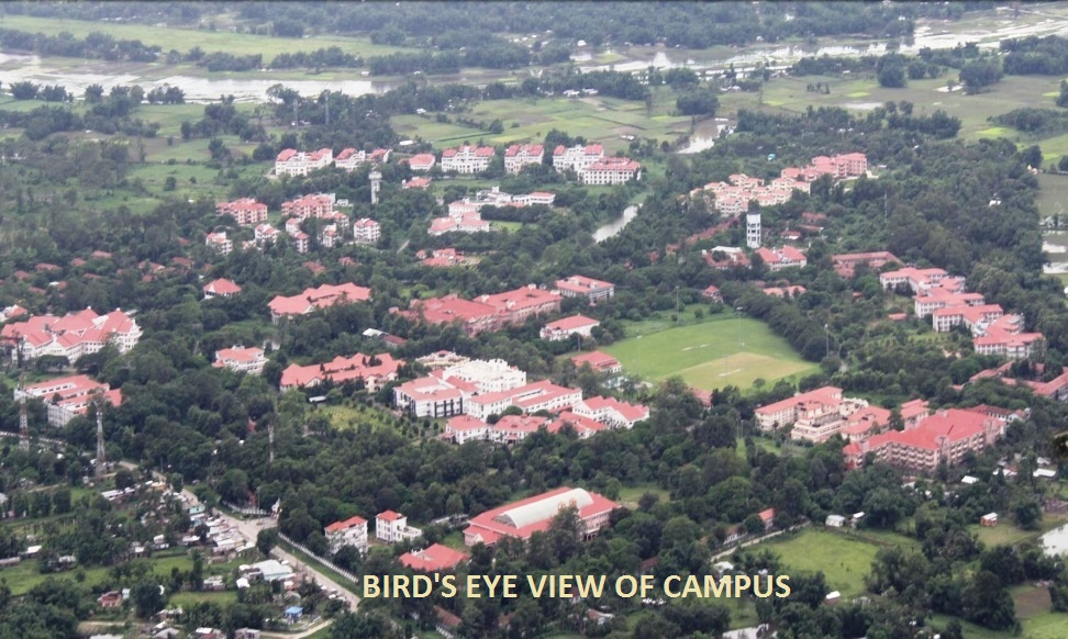 Bird`s Eye View of Campus